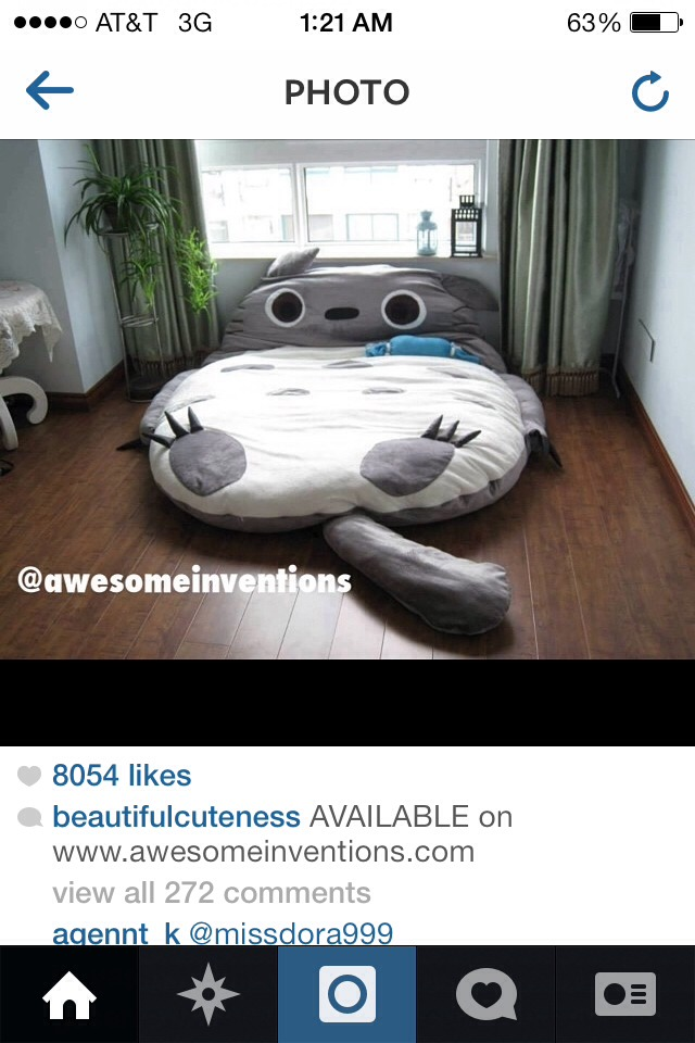Cute Totoro bed