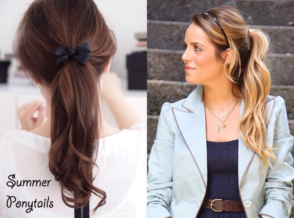 A simple ponytail with a bow is a cute style!