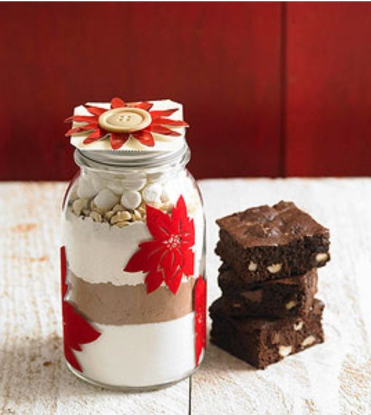 Find any brownie, cookie, or simple desert recipe online and layer the ingredients in an empty jar (so all they have to do is mix them). Print the instructions on a nice card and wrap it around the jar. Decoration for the jar is up to you!! Use your imagination :)
