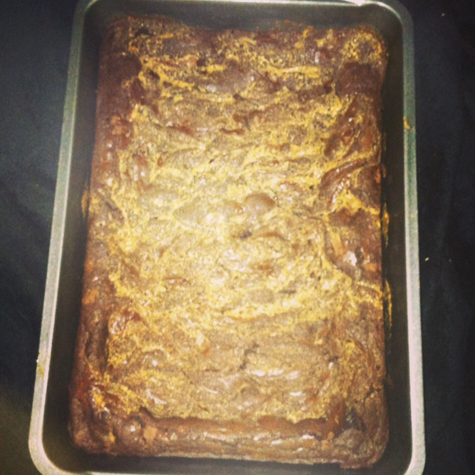 I make this recipe frequently and they are so yummy! Last night I tried it with a peanut butter swirl and also chopped up some baking chocolate for added chocolate chunks. 😊 It's an easy recipe to add your favorite candy, peanut butter/caramel, whatever! 😋It's so simple and will be a big hit!