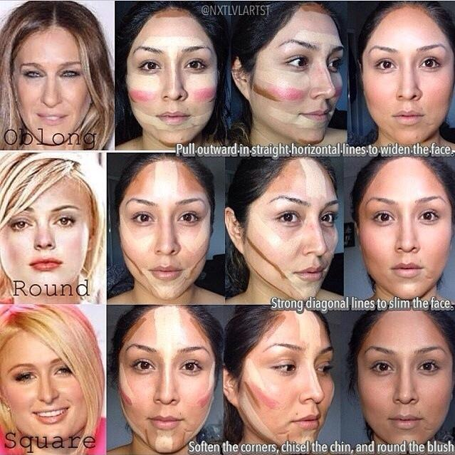 3. Not contouring for your face shape  If your favorite YouTuber's contour tutorial didn't work for you, it's not due to inexperience on your part. You should adapt contouring to best accentuate your face shape!