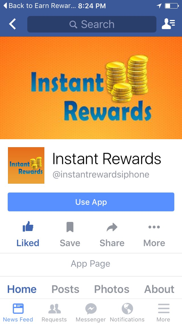 I love this app. It's fun, quick and easy to earn rewards!!