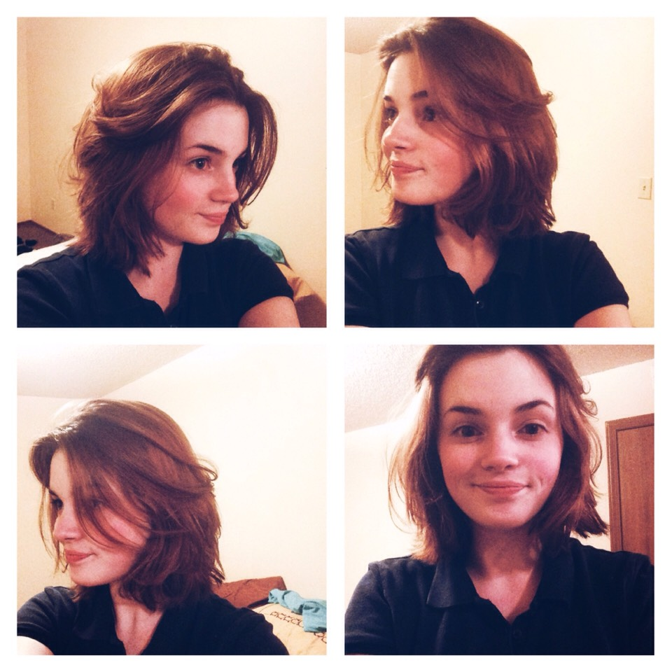 Pictures of the first time I used them (testing them out). The volume fell out after a few minutes, but my hair was complete cool when I put the rollers in and I only had them in for ten minutes