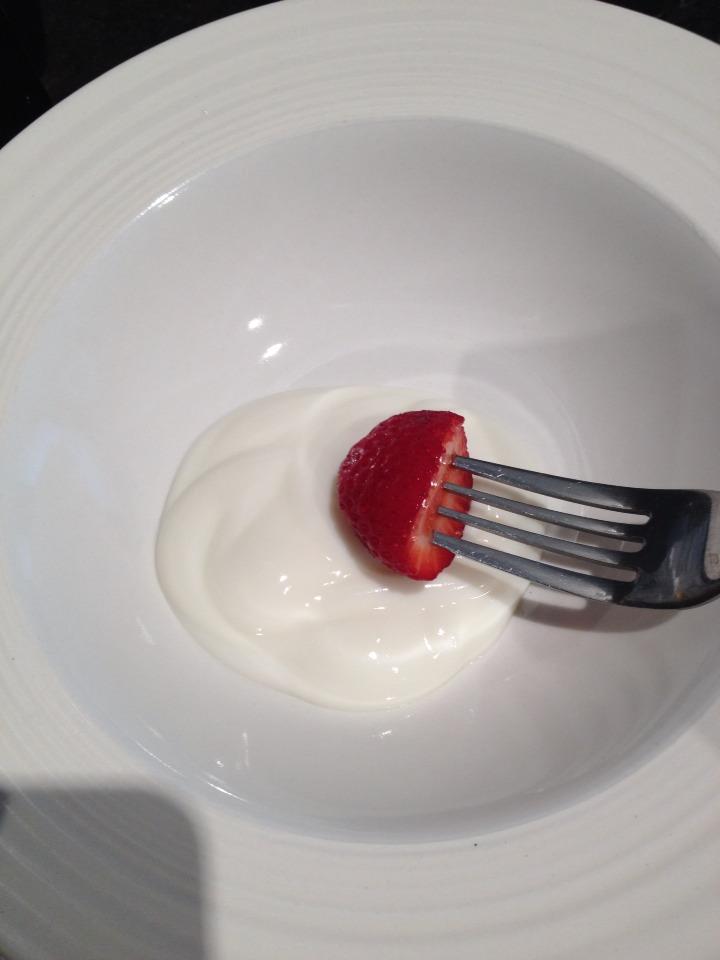 step four: dip into yogurt