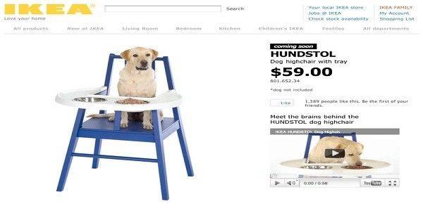 6. IKEA HUNDSTOL Dog Highchair $59.00