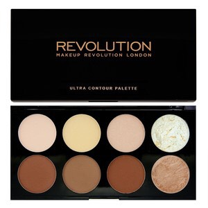 This revolution contour palette is really good. These contour shades are so buttery and soft they go on your skin so smoothly, the highlight colours are amazing to so pigmented