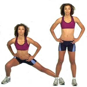 30 side lunges