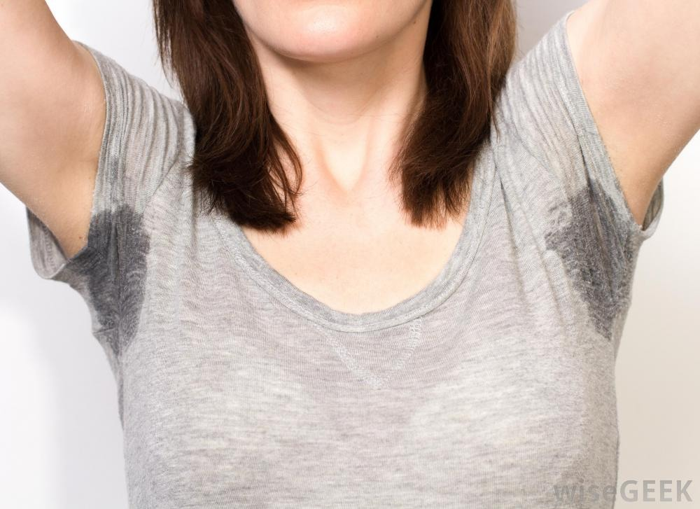 Put on your deodorant at night before you go to bed to not sweat as much