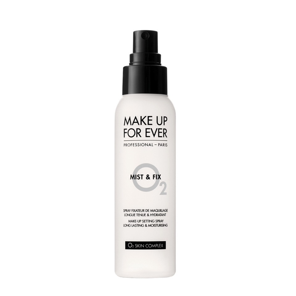 Lastly, it's good to set with a setting spray. This one is by Makeup Forever, and it works really well! It prolongs the wear of your foundation.