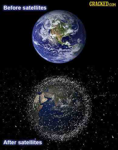 without any satellites how did they get a picture for the before photo?