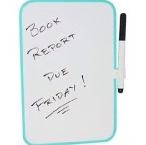 3: A magnetic whiteboard! This is great for reminders during the day! I would TOTALLY recommend these!