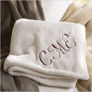 Monogrammed Blanket