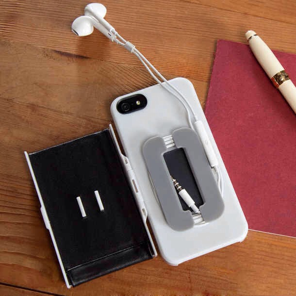 14. iPhone Case with Earbuds Holder, $35   Because they always end up in a tangled wad. Get it at fab.com