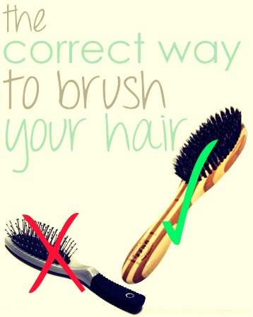 It's because your using the wrong brush! Well does it matter? YES !if you get the kind with the stubs at the end it's the wrong brush you need one that won't hurt your hair one that also gets tangles so get one with a lot of soft bristles !