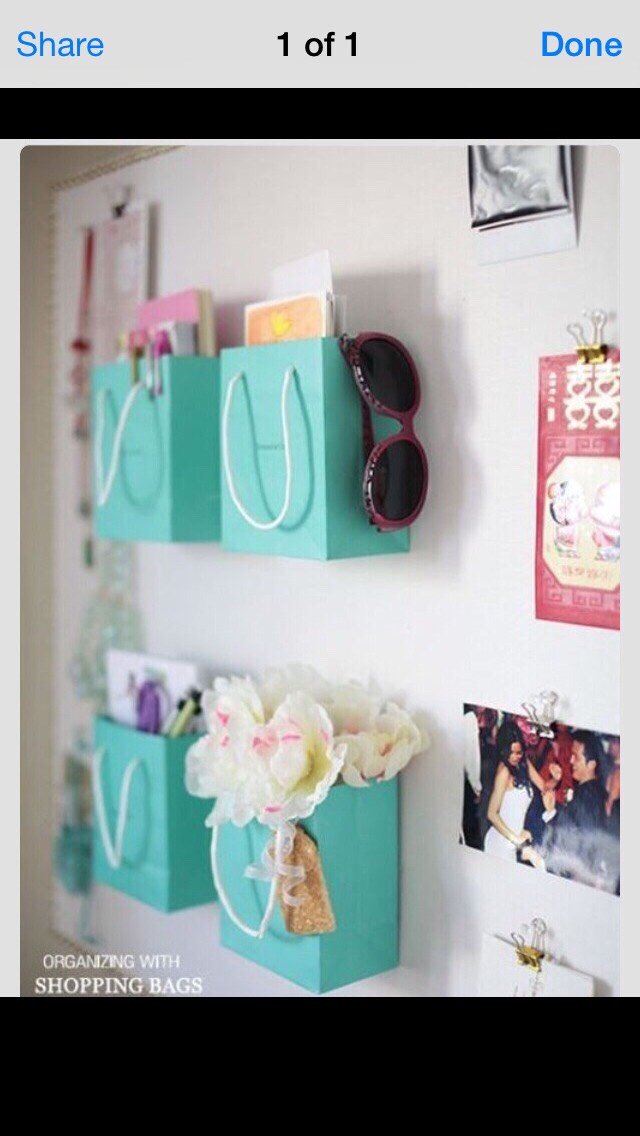 Use gift bags as decor!