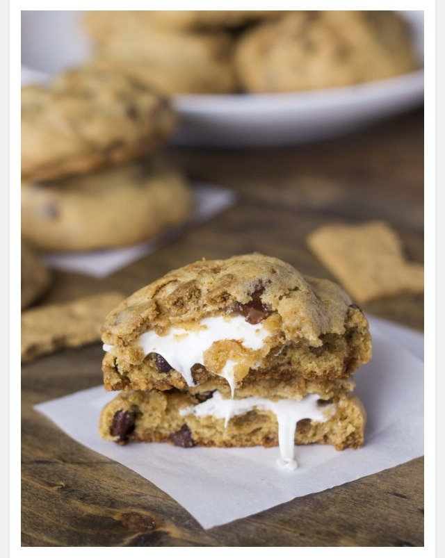blueberry yogurt cookies recipe chocolate chip smores - HD 768×1024