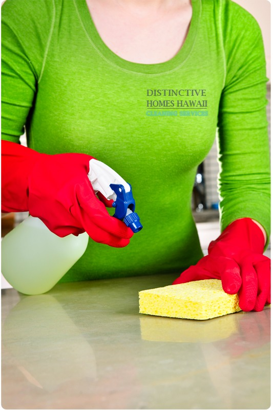 Use a cloth with a little hydrogen peroxide to clean the counter
