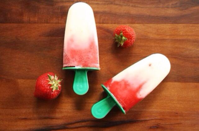 Ingredients: Vanilla Yogurt Strawberries