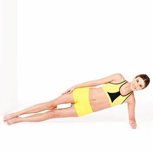 Side plank Up: Do 10 reps of 3 sets