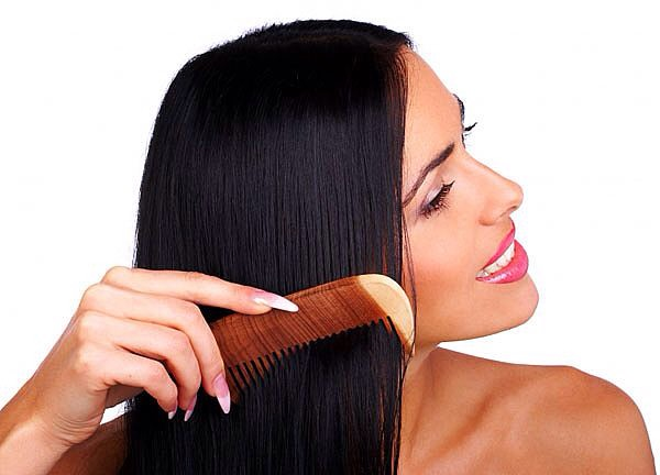 Tip #2 Distributing conditioner through your hair with a wide comb will leave hair shiny and tangle free.