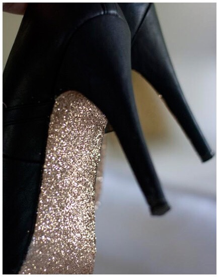 Take your heels from drab to fab with glitter!