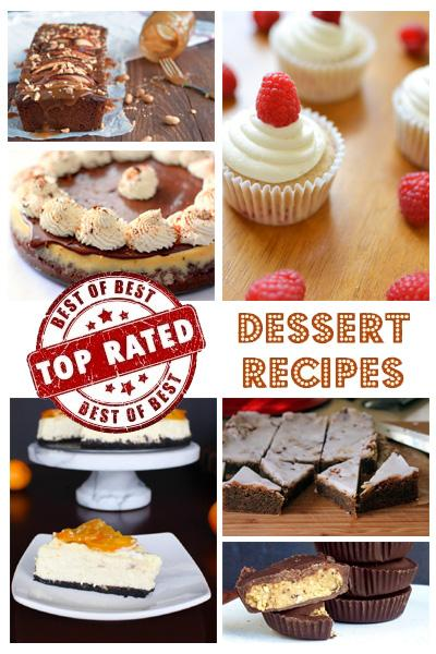 Great selection of dessert recipes..