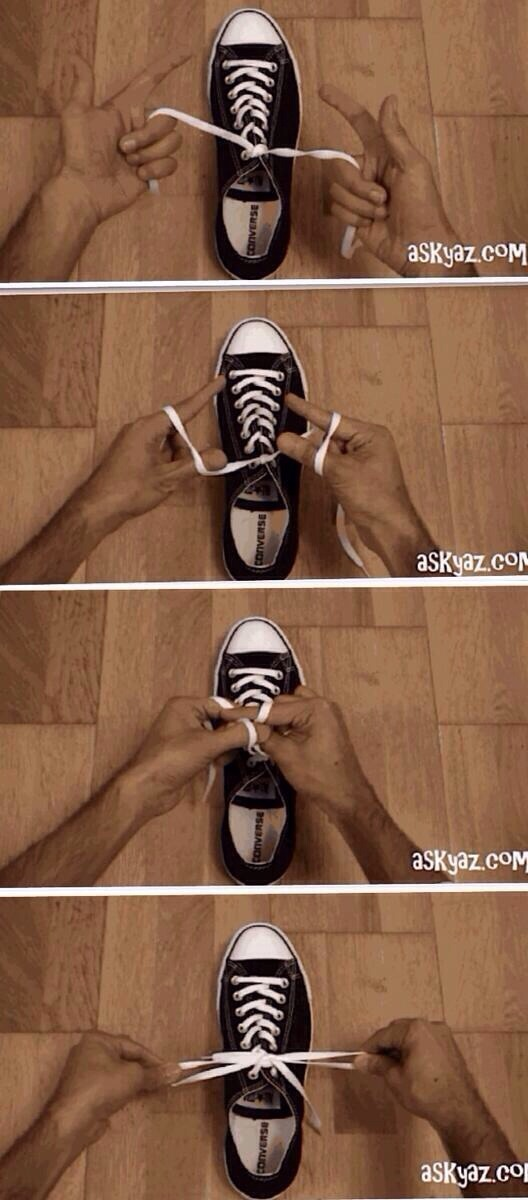 Musely quick way to tie your shoes 20 seconds ccuart Choice Image