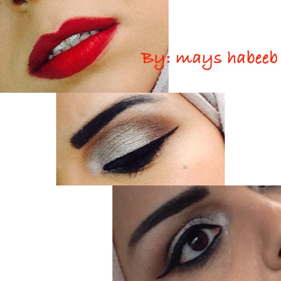 Lip stick: Dragon red matte(MARS)  Eyeshadow: urban decay  Eyeliner: gel eyeliner by makeup for ever