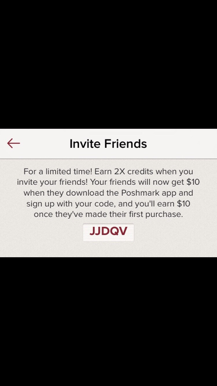 Poshmark is a great app for selling and buying! Get $10 just for signing up using this code. You get $5 if you don't use the code. Good luck!:)