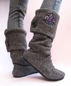 Now u have a new cute pair of boots for the winter without the price tag enjoy ;p