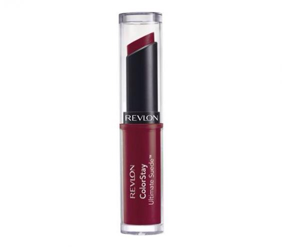Revlon Colorstay Ultimate Suede in Backstage Somewhere between a stain and a balm lies this velvety pick that stays put without feeling dry on lips. Swipe once for a sheer wash of color; layer on for a bolder finish. Available in 20 shades.