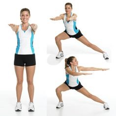 10 side lunges (each side)