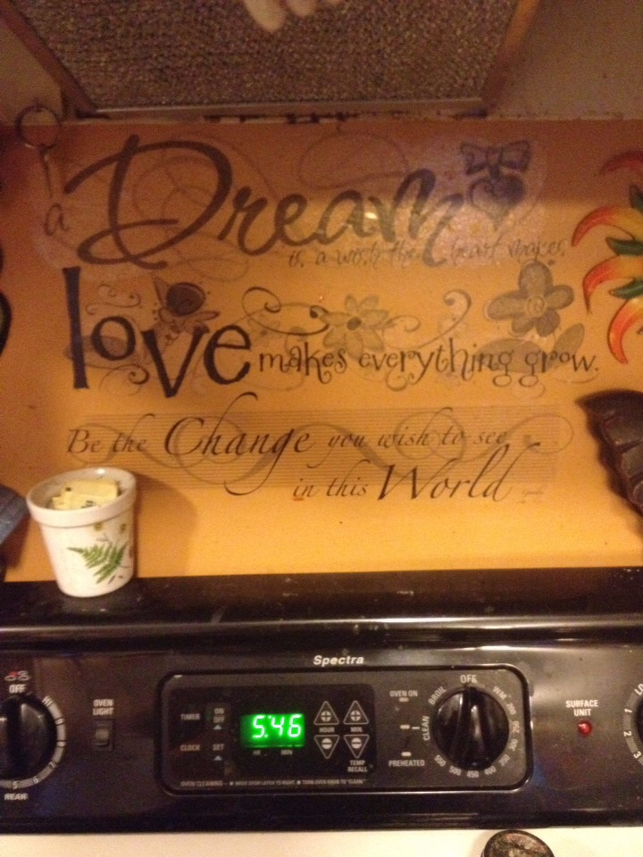 These are wall decals I put them up on the wall behind my oven luckily my sink has a window.