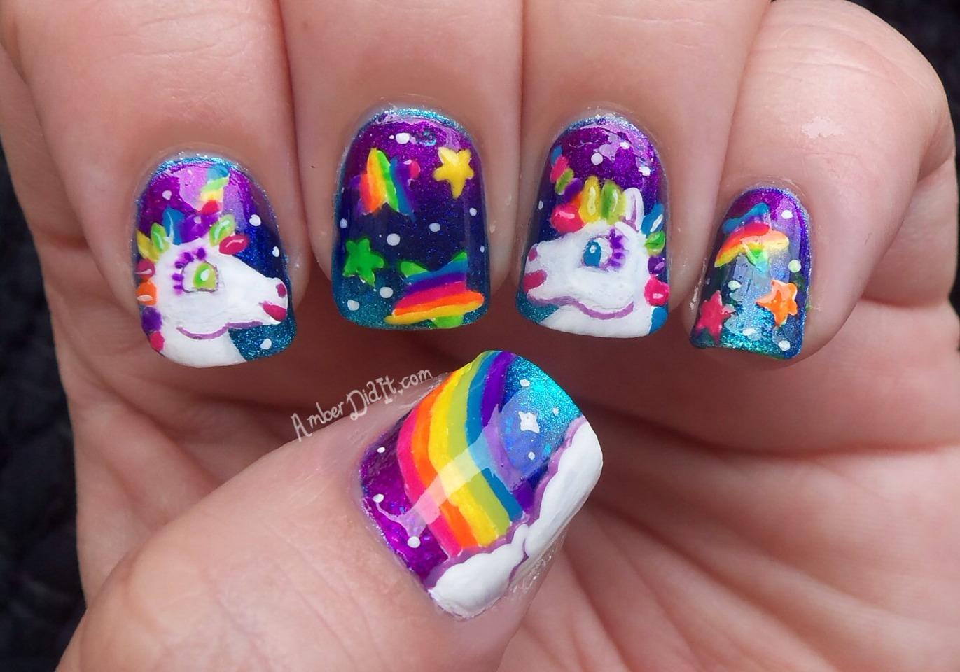 Unicorn Rainbow Nail Art