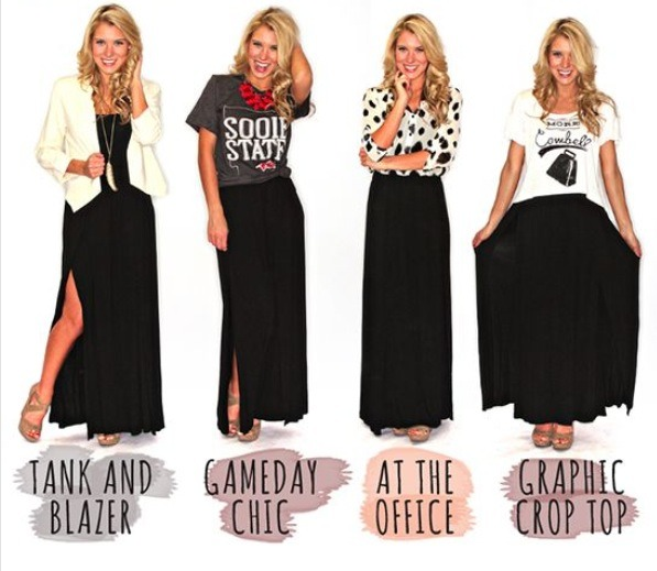 8 cute ways to wear a black maxi skirt by dee mathis ����