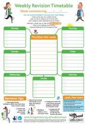 Make a timetable!