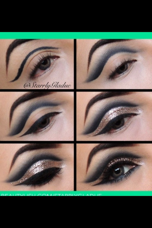 Make sure to blend the eye liner part (crease)