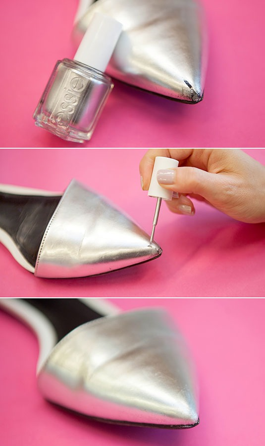 10. Cover up a scratch on scuffed shoes or boots.