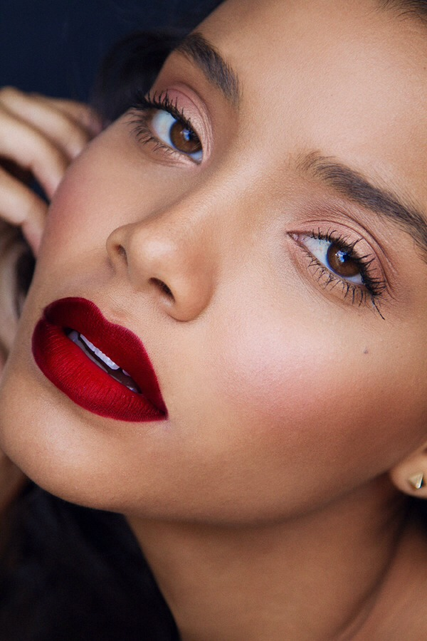 For fuller lips, extend the lip line using a flesh tone lip liner. Be careful not to go overboard!