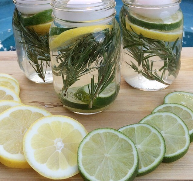 As much as I enjoy summer BBQ's, nothing has me running in faster than being attacked by mosquitos. Lucky for me I came across this non-toxic repellent, which is not only effective but also looks ANDsmells really pretty! You will need Rosemary Limes Lemons Lemon essential oil Water Tea candles #SummerVibes