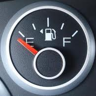 forget what side the gas tank is onn the arroe on your gas gauge will tell you