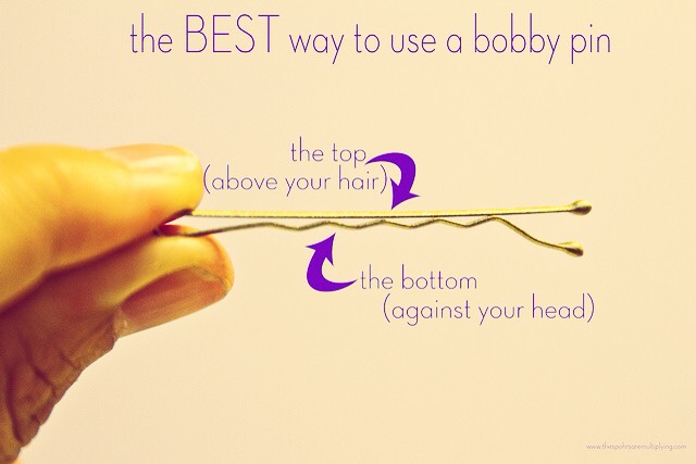 Just another tip ! Flip the bobby pin over for better grip! Make sure you don't glue the earring on the wrong side, though.