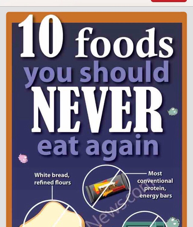 Foods That You Should Never Eat Again