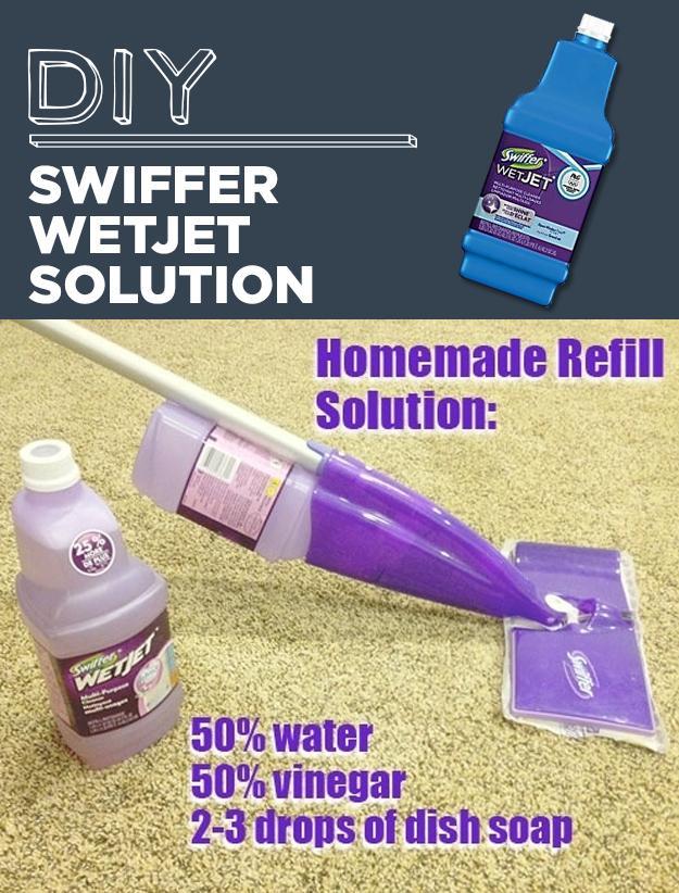 4. DIY Swiffer WetJet Solution