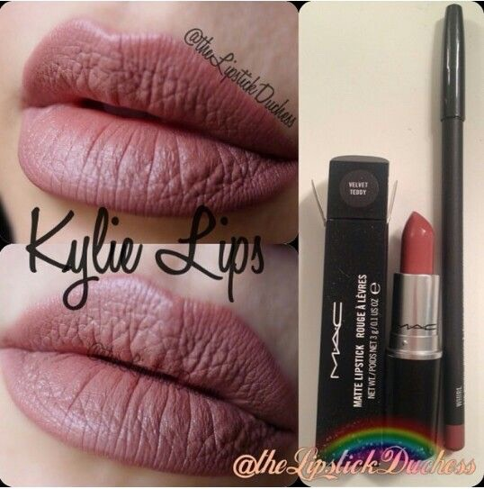 There have been rumors that she uses the mac lip liner in whirl and the lipstick in velvet teddy