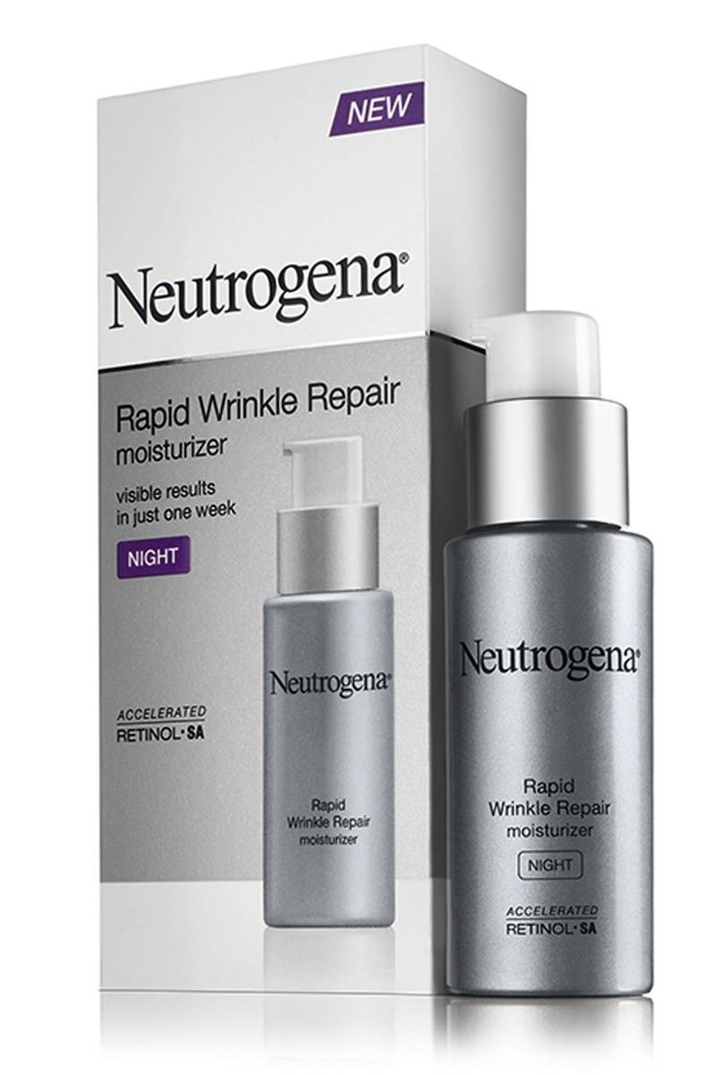 Retinol is proven to build collagen and speed up skin-cell turnover, meaning it keeps pores clear of dead skin and renews your complexion. Because it can be irritating at first,use it two nights a week, leaving a couple days in between apps.  Neutrogena Rapid Wrinkle Repair Night Moisturizer (19.99)