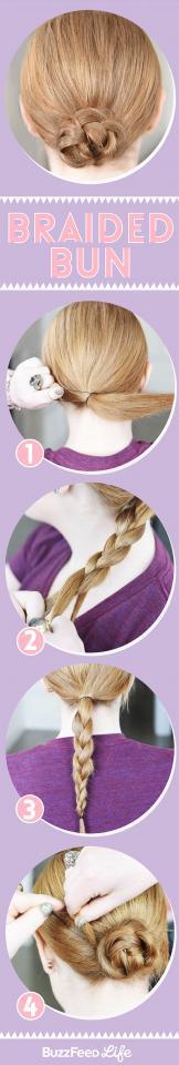 3. Braided Bun