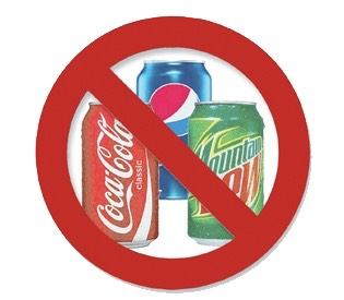 NO soda . It is packed with sugar and unwanted carbs . You should not drink your calories but instead grab water . If you want to flavor up your water a bit add fruits in your water , lemon , or lime.