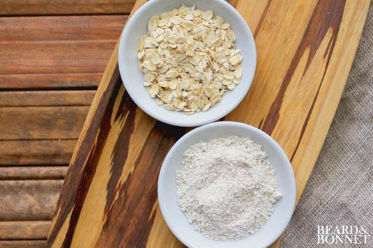 3. Make your own (gluten-free!) oat flour with oats and a blender.