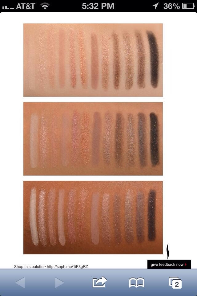 If you are not sure about getting this palette! This comparison might help you! Here's what it looks like on this 3 different skin tones!